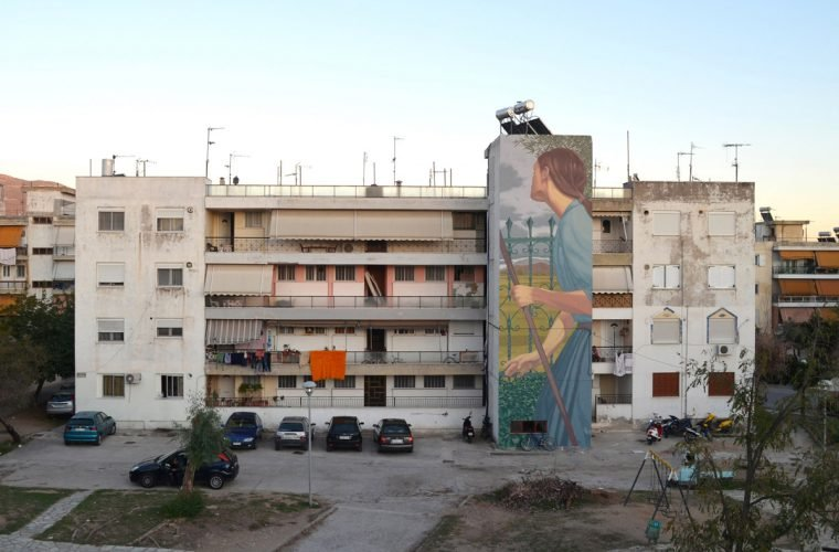 The unmistakable street art by Dimitris Taxis