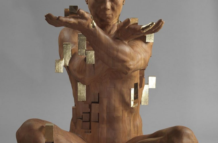 The sculptures of the Han Hsu Tung dissolve into pixelated cubes