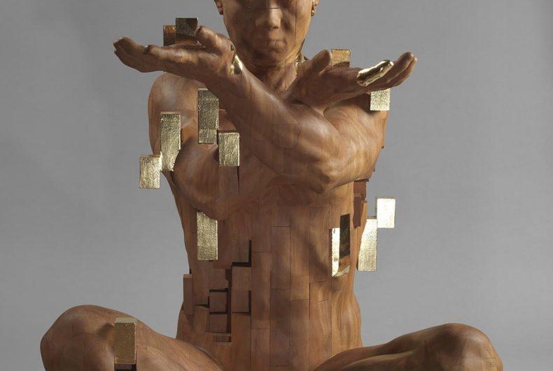 Le sculture di Han Hsu Tung si dissolvono in cubi pixelati