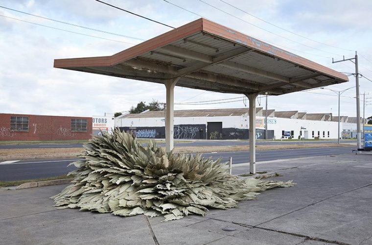 Loose Leaf Studio, the botanical installation in a former gas station