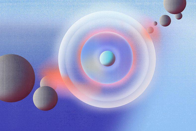 Merijn Hos, illustrazioni fatte di geometrie e gradienti
