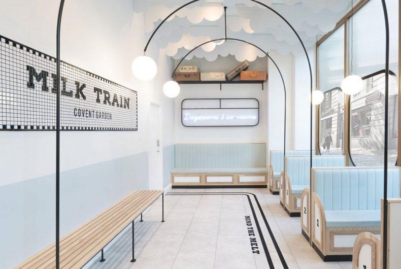 Milk Train, la gelateria che sembra una stazione in stile Art Deco