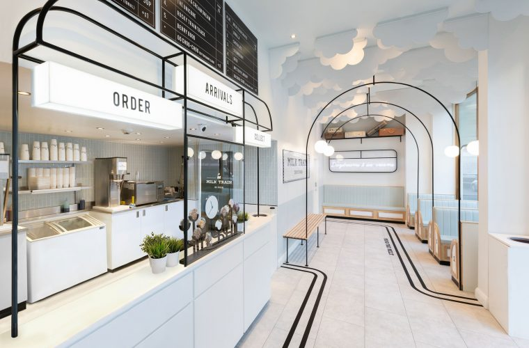 Milk Train, the ice-cream shop that looks like an Art Deco station