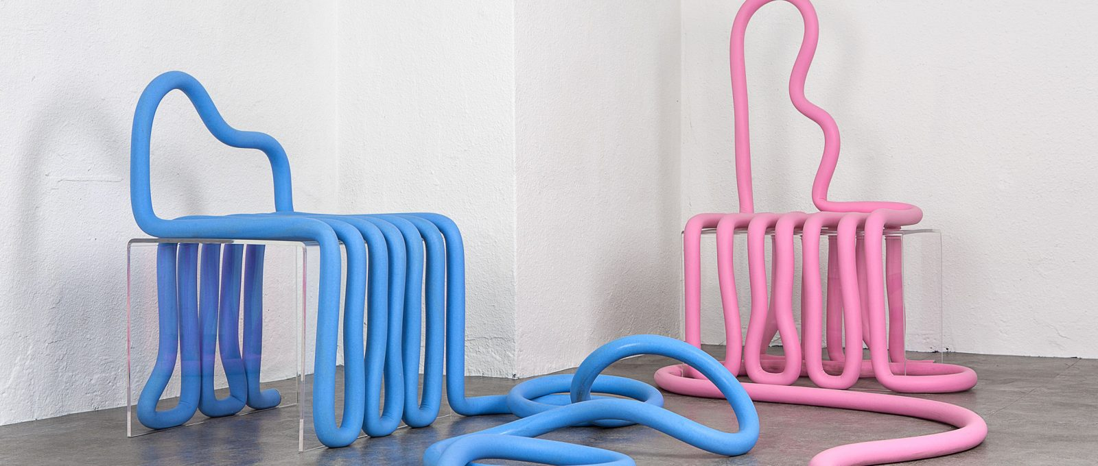 Mono by Jeong Greem, a foam tube for an entire furniture collection.