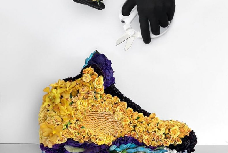 Mr. Flower Fantastic recreates sneakers with flowers