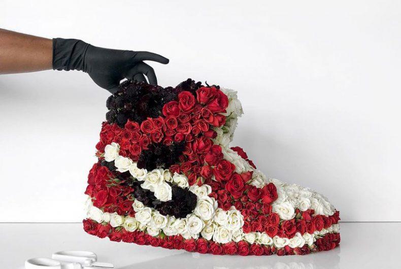 Mr. Flower Fantastic ricrea le sneakers con i fiori