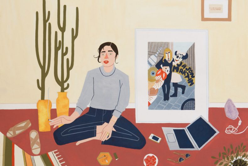 Scene di vita reale attraverso le matite colorate di Kelly Bjork