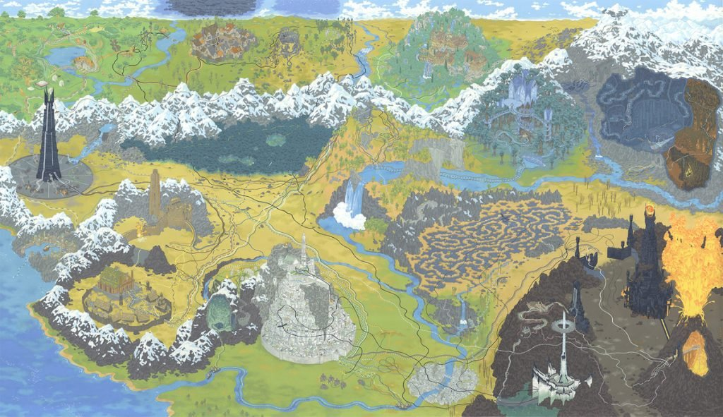 The Lord of the Rings Il Signore degli Anelli Cinemaps Andrew DeGraff | Collater.al