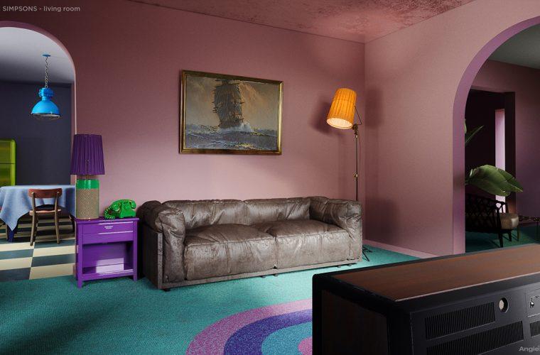 E se la casa dei Simpson seguisse gli ultimi trend dell'interior design?