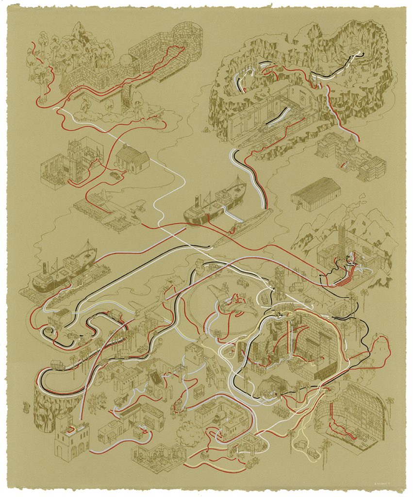 indiana jones Cinemaps Andrew DeGraff | Collater.al