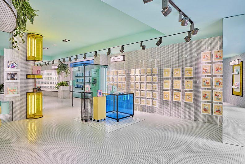 RUBIO, the bookstore designed by Masquespacio that looks to the future.
