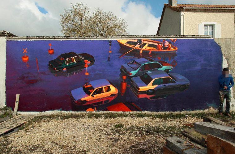 La street art di Zoerism che rappresenta la decadenza del nostro secolo