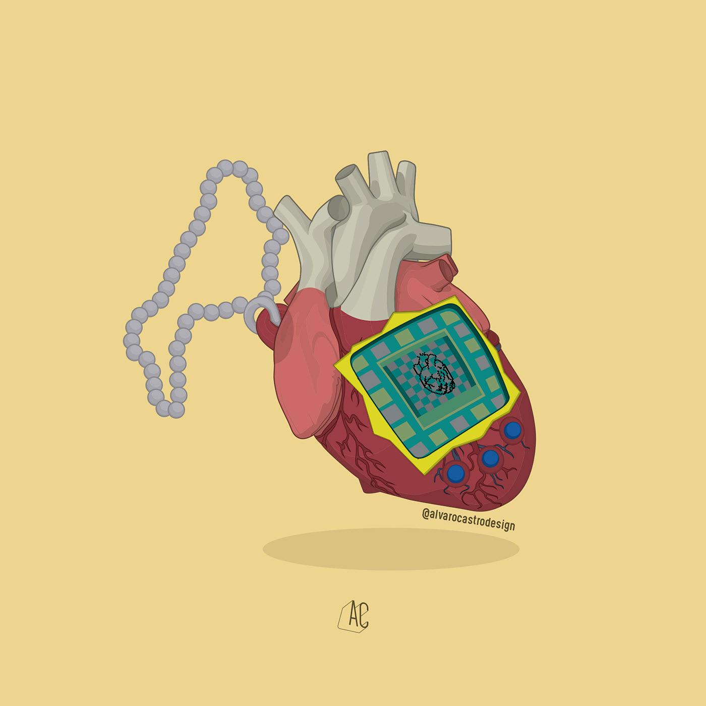 Alvaro Castro illustrates the emotions of the heart