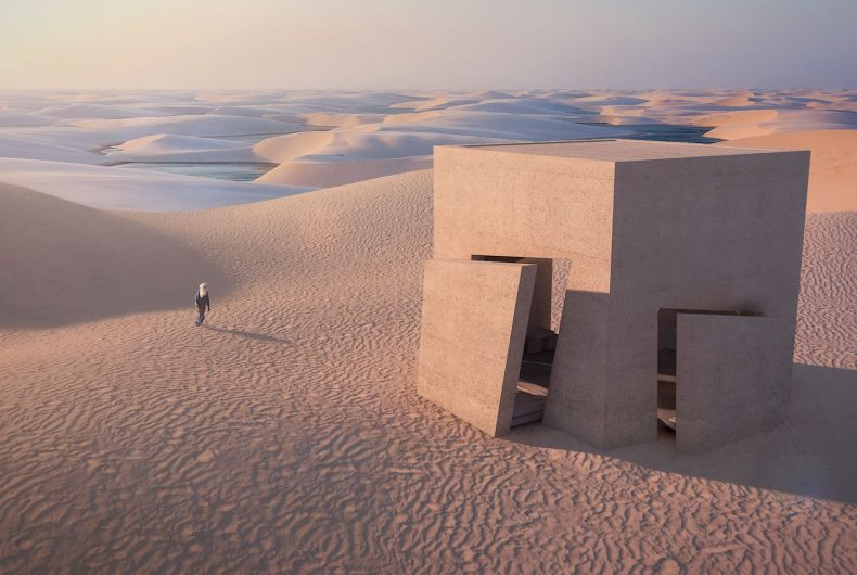 Christophe Benichou and the play of lights and shadows in the desert