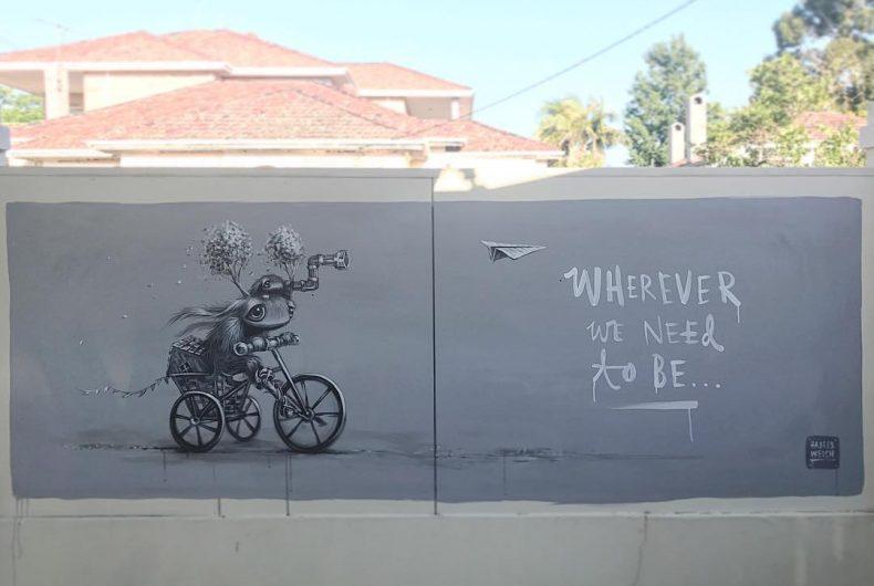 Hayley Welsh's sweet motivational murals