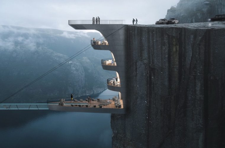 Architect Hayri Atak has designed a hotel suspended in the void