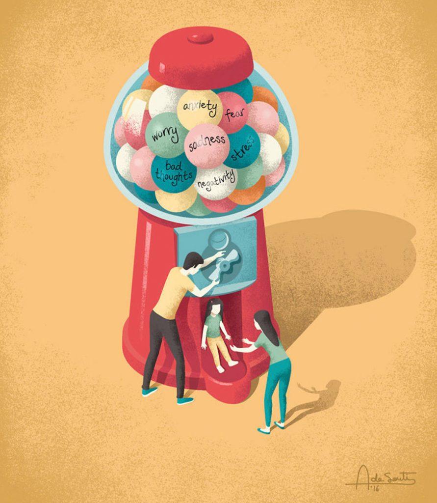 Persone in miniatura che vogliono scoprire il mondo di Andrea De Santis
