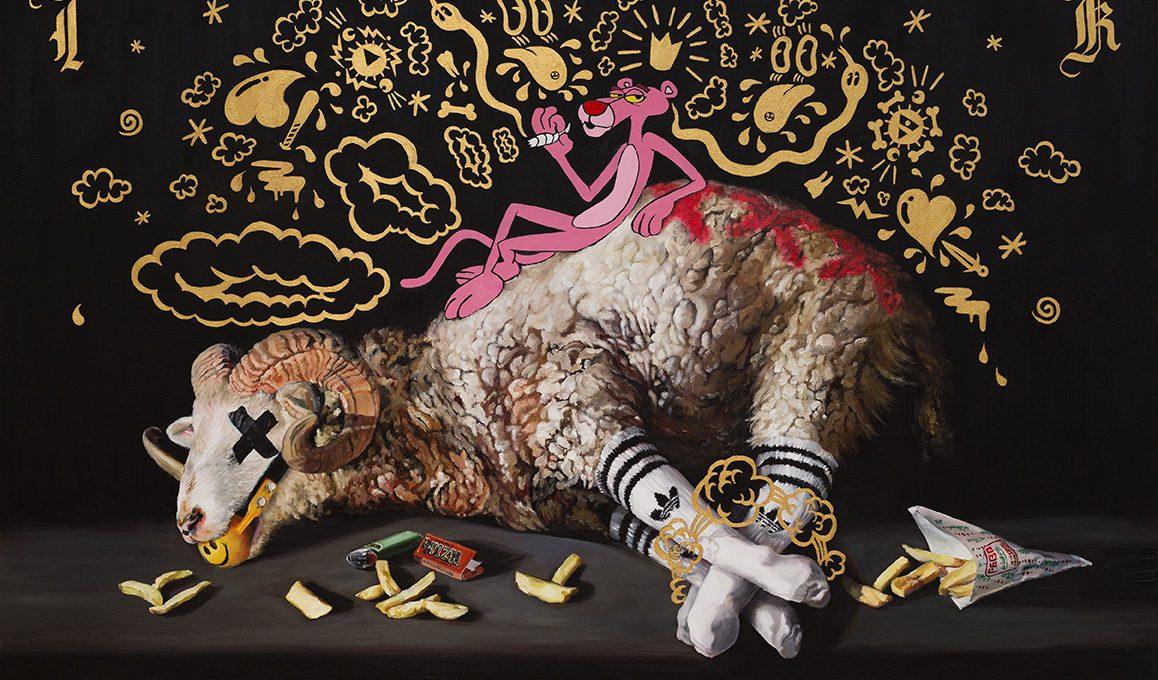 I dipinti di Kathy Ager fondono Pop e Barocco