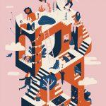 L'arte su griglie geometriche di Thomas Lateur. | Collater.al 14