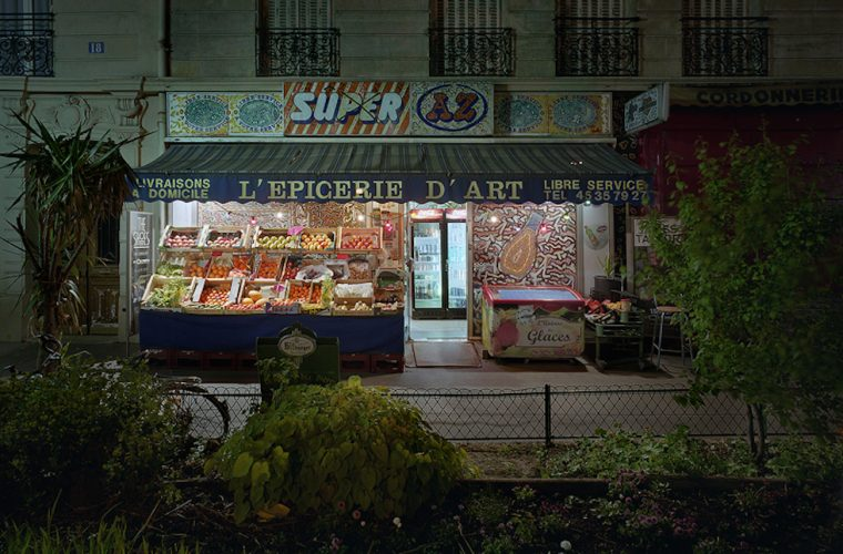 Merie Hamel captures the charm of Parisian groceries open at night