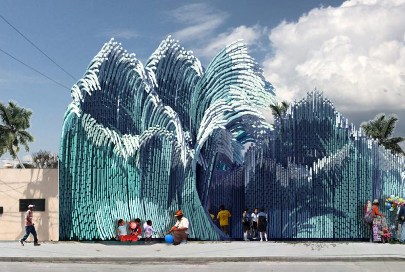 New Wave, recycle plastic to build a school in Mexico