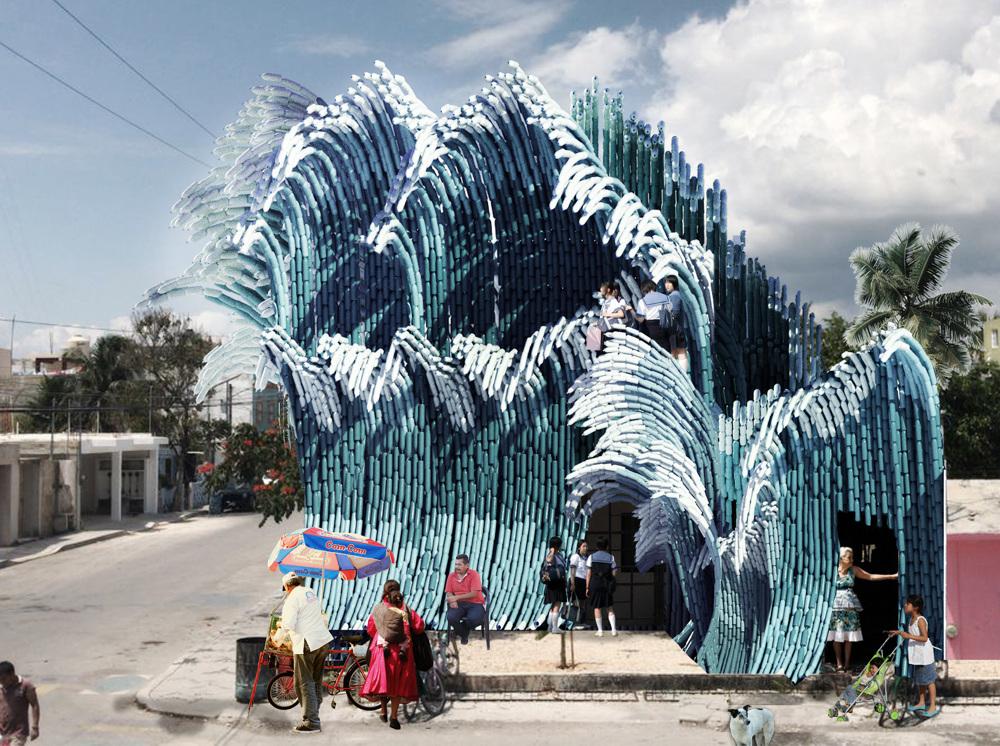 New Wave, riciclare plastica per costruire una scuola in Messico | Collater.al
