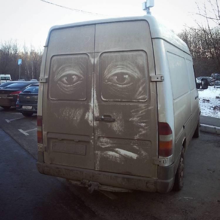 ProBoyNick l'artista russo che disegna sulle auto sporche Collater.al