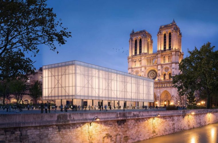 Studio Gensler has designed a pop-up pavilion for Notre-Dame