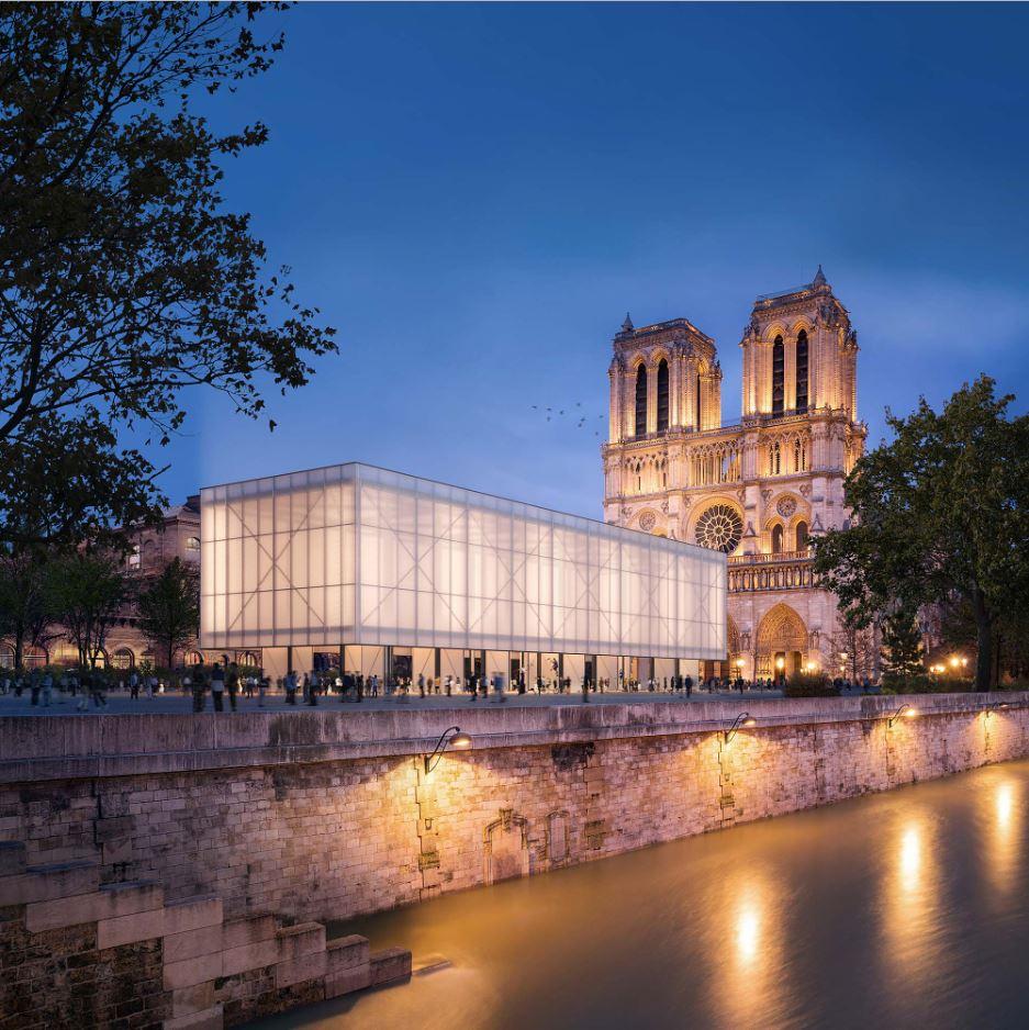 Viene ideato un padiglione pop up per Notre-Dame   Collater.al