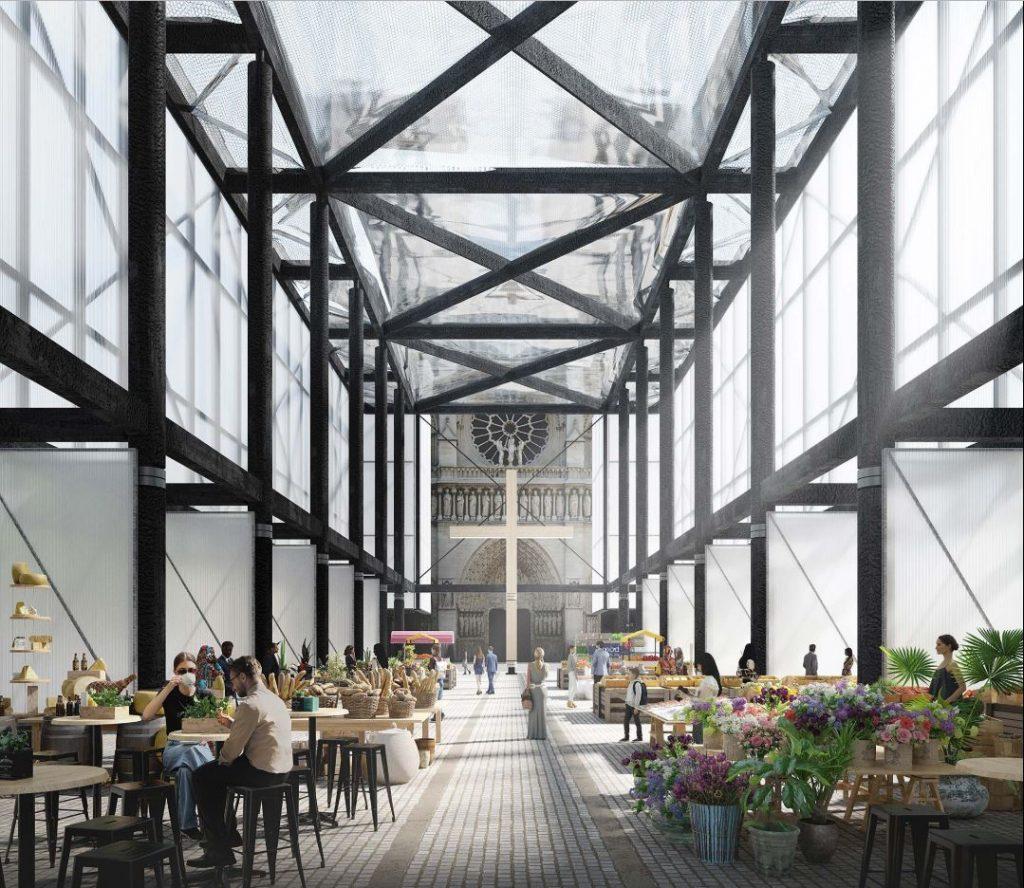 Viene ideato un padiglione pop up per Notre-Dame | Collater.al