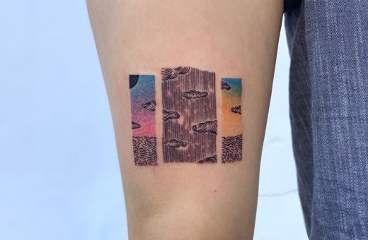 @zik_tats turns patterns and landscapes into tattoos