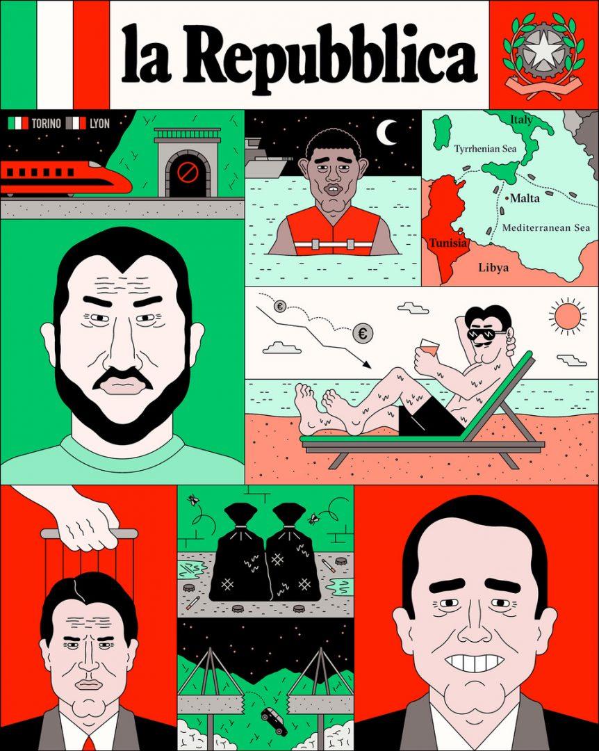 Breaking News, media e politica nelle illustrazioni di Filippo Fontana