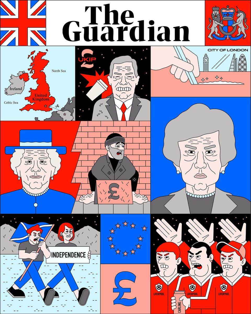 Breaking News, media and politics in Filippo Fontana's illustrations