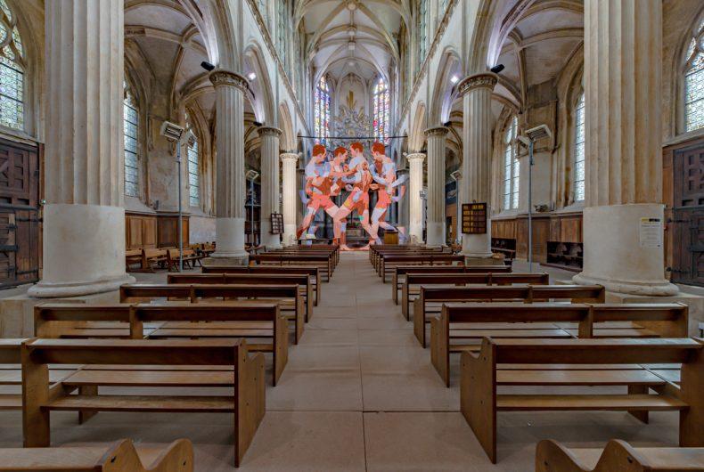 Pugna, l'installazione di ARYZ all'interno di una chiesa