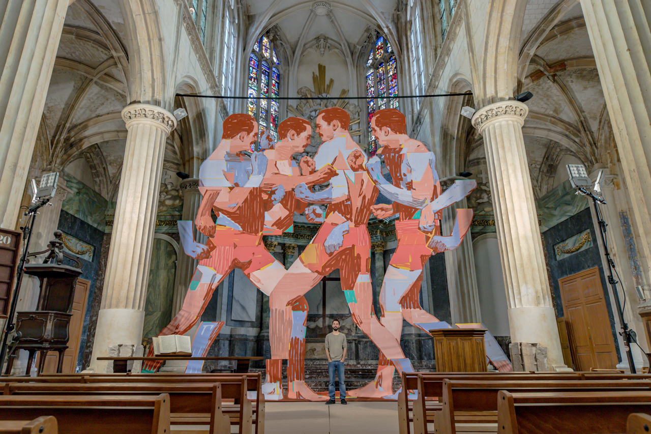 Pugna, the installation of ARYZ inside a church