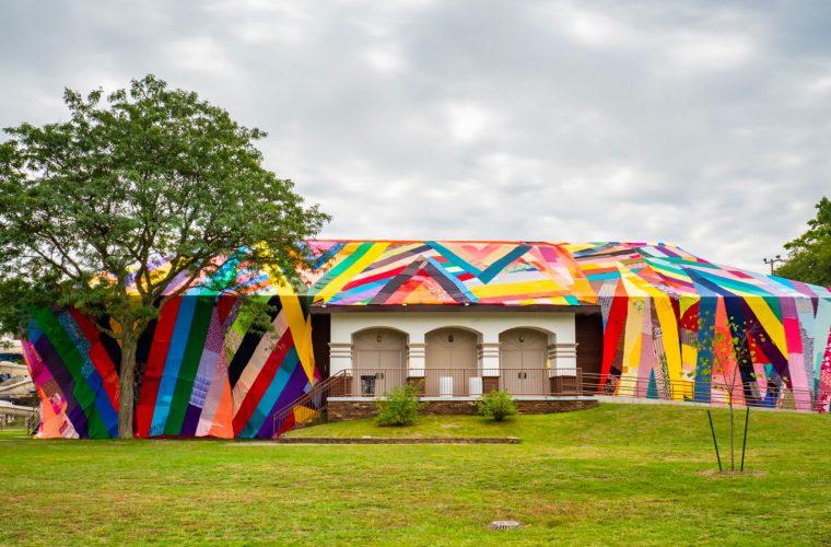 Textile installations by Amanda Browder