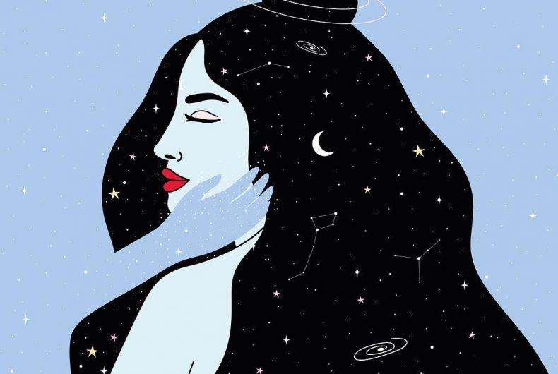 Leabidu, between starry skies and alien women