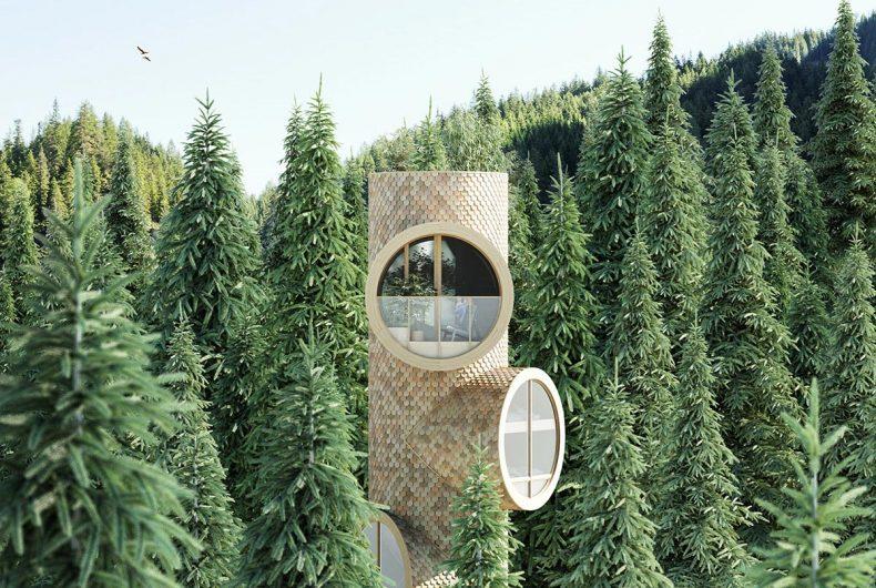 Bert, la casa modulare a forma di albero
