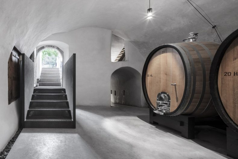 The new look of the old Pacherhof winery, modern and minimalist