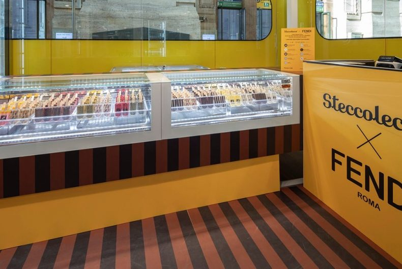 Steccolecco and Fendi open their pop-up ice cream parlour