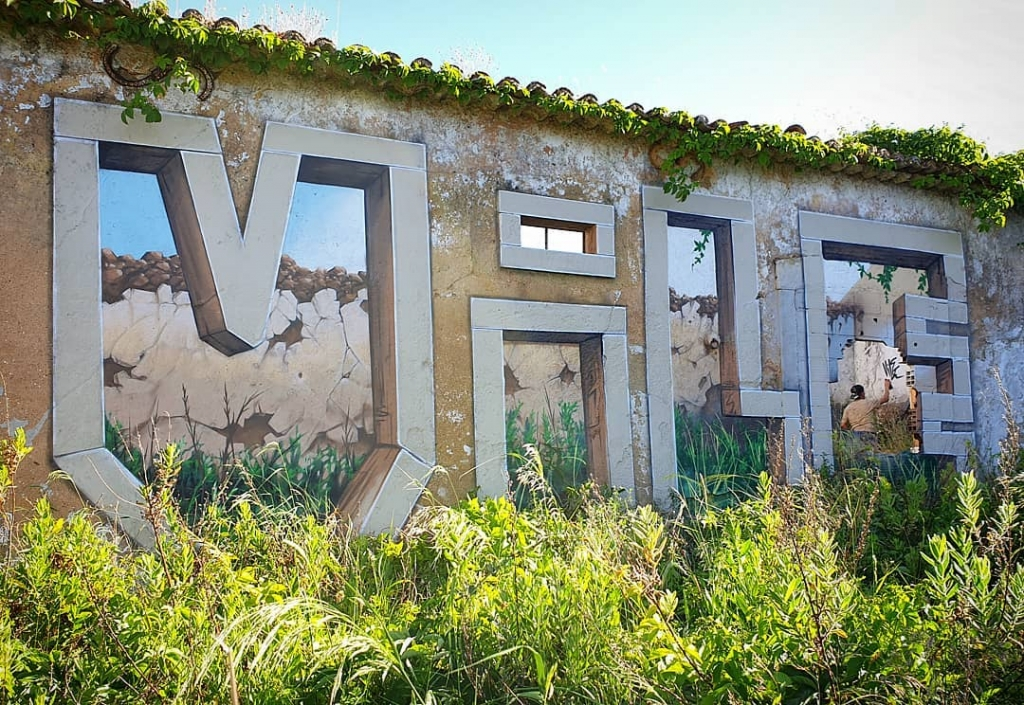 Vile, the Portuguese street artist who deludes the viewer