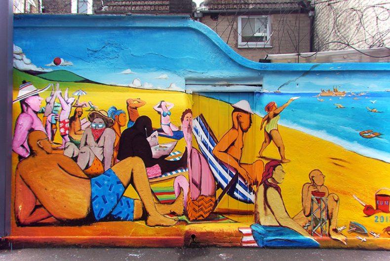 The bodies intertwine in the murals by Giacomo Bufarini aka RUN