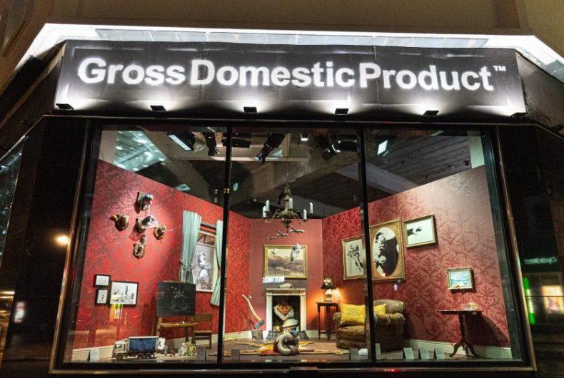 Gross Domestic Product, il negozio di Banksy a Londra