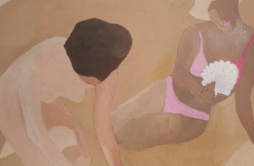 The body of the woman in Sasha Podgurska's paintings