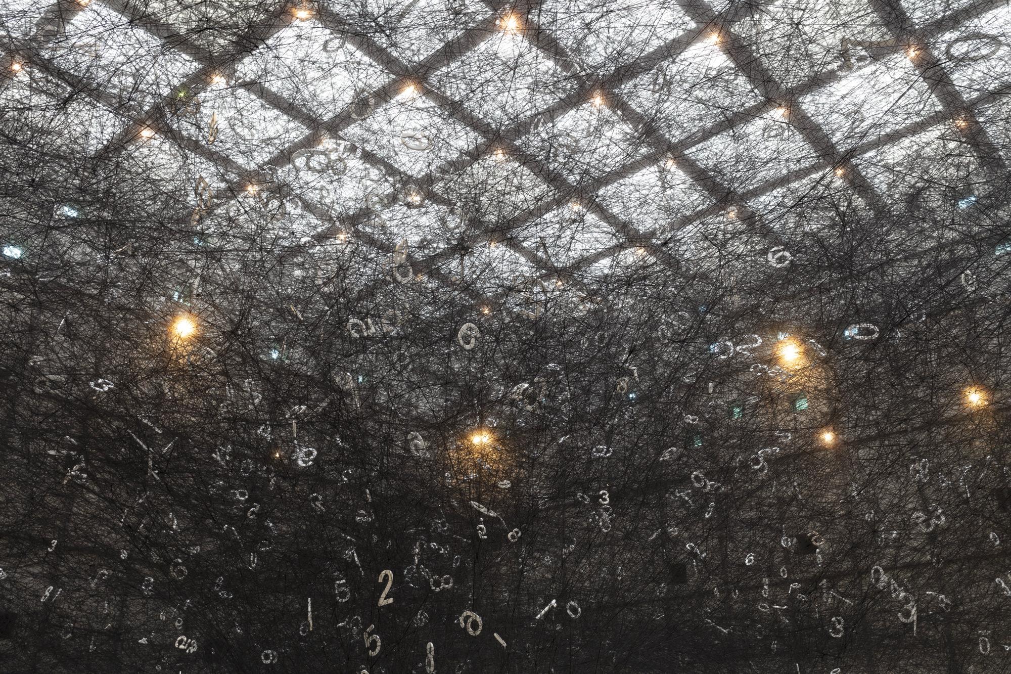 Chiharu Shiota's interactive installation celebrates numbers