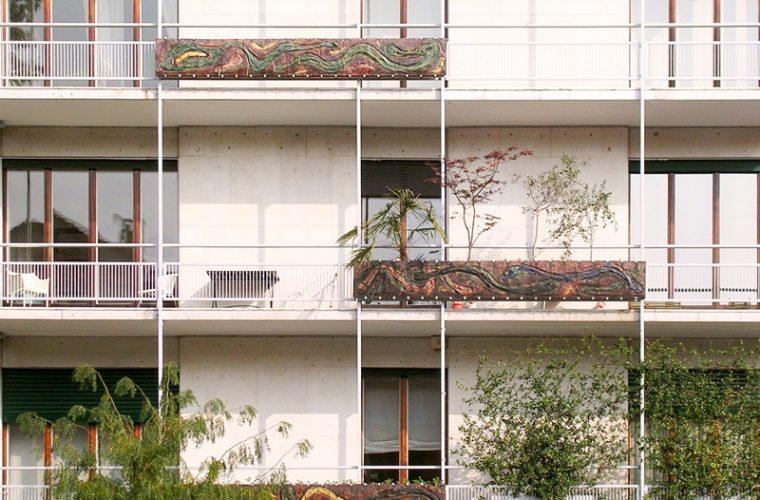 Quel palazzo a Milano decorato da Lucio Fontana
