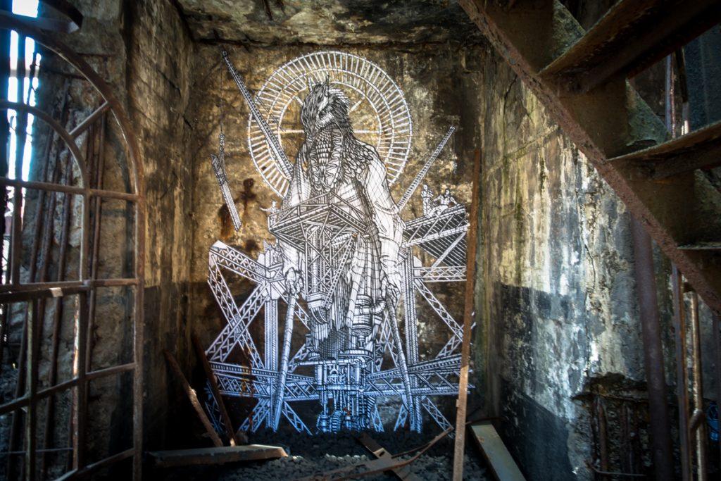 Mitologia ed alchimia nei murales di MonkeyBird | Collater.al