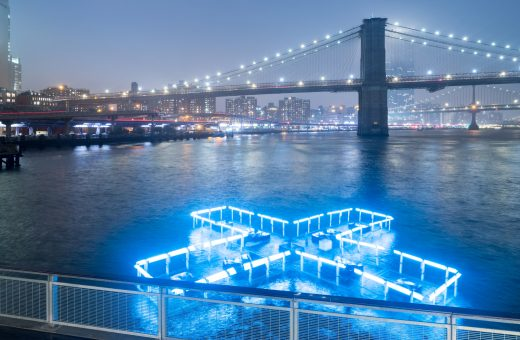 + Pool Light, the floating installation by Playlab Inc & Family