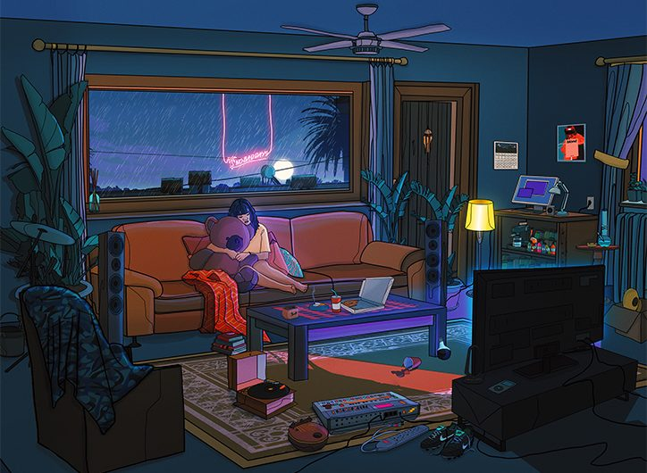 Marinel Sheu captures sunsets in his illustrations