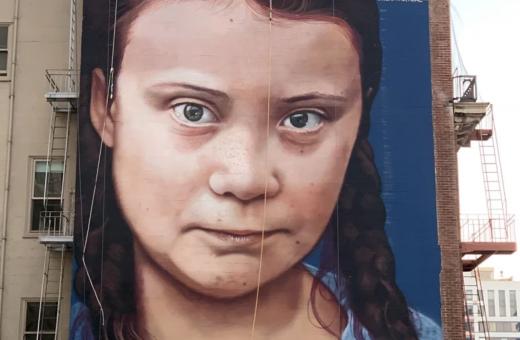 Greta Thunberg, l'attivismo su un murales a San Francisco